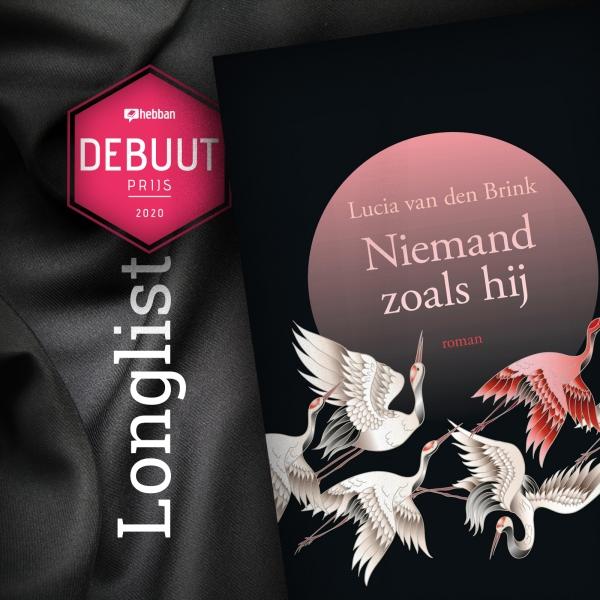 Nominatie Niemand zoals hij Lucia van den Brink debuutprijs Hebban longlist