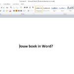 Hoe kan je een boek schrijven en opmaken in Word?