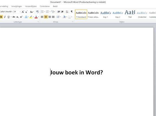 Hoe kan je een boek schrijven en opmaken in Word? Tips