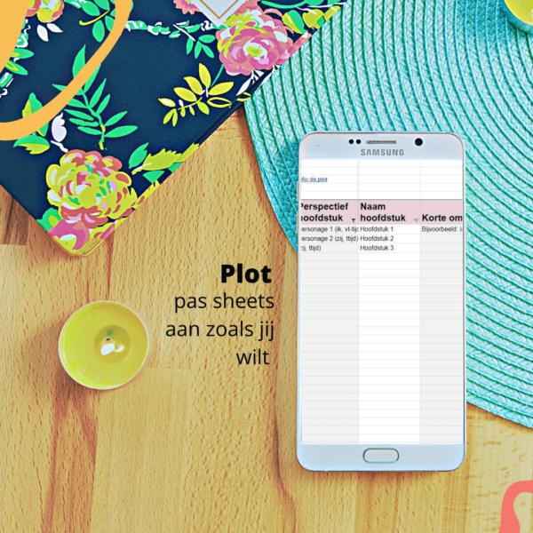 mastersheet boek schrijven - plot planner perspectief hoofdstuk omschrijving debuut beste schrijftool